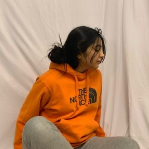 Orange North Face Hoodie